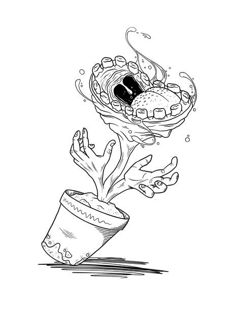 Inktober / Teeth