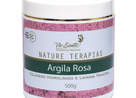 Argila Rosa com Colágeno Hidrolisado e Óleo essenciais de lavanda