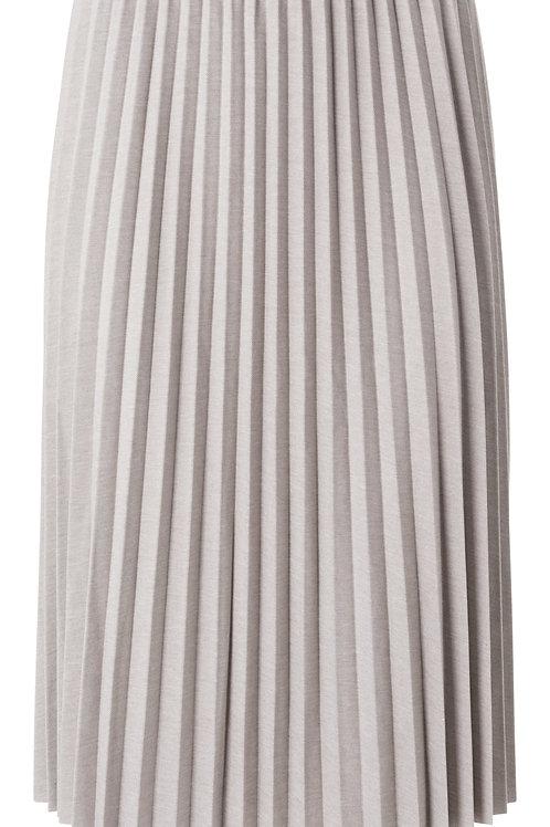 Jersey plisse midi skirt