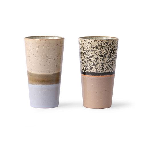 Keramikbecher  70's Latte 2er Set