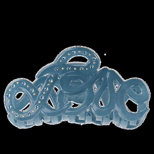 Haarspange Love claw Jeans blue Swarovski