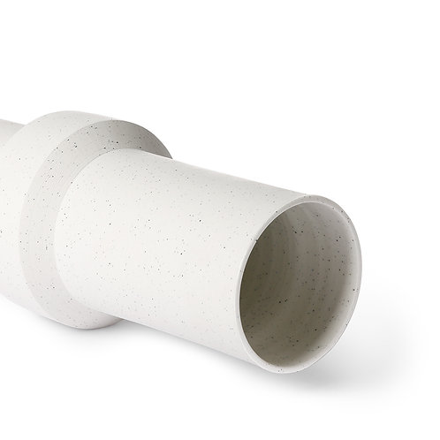 Vase speckled clay straight M