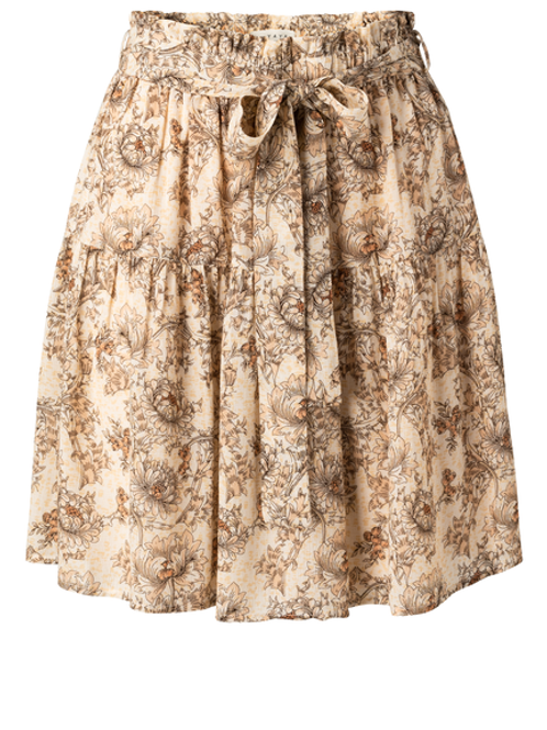 Viscose printed mini skirt