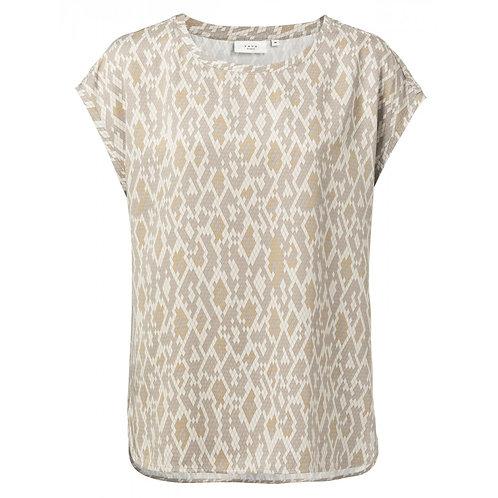 T-Shirt aus Modal mit Rundsaum und Schlangenledermuster