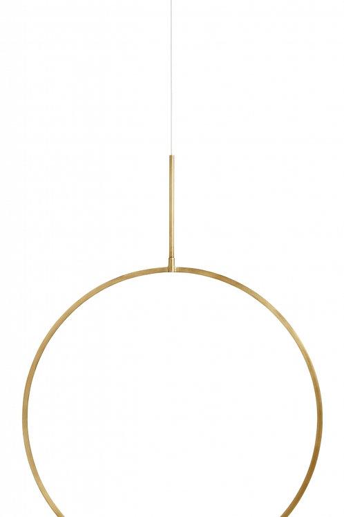 Kerzenständer Circle L gold