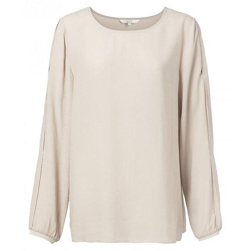 Bluse mit plissierten Ärmeln