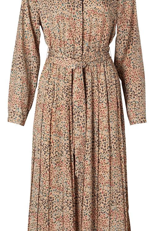 Printed plisse dress