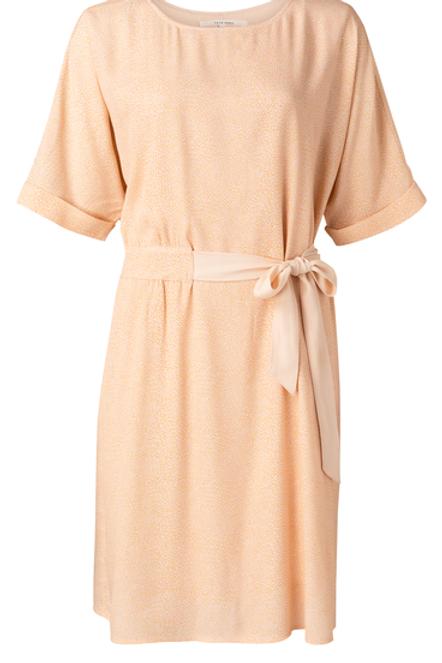 Printed midi dress with belt