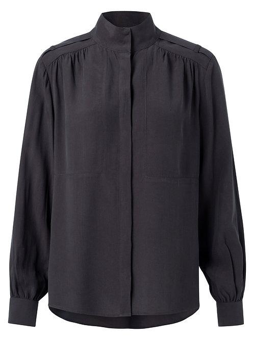 Lyrocell blend high neck shirt