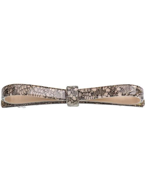 Haarspange long bow beige