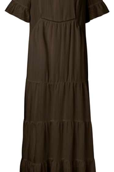 Maxi A-line dress with ruffles