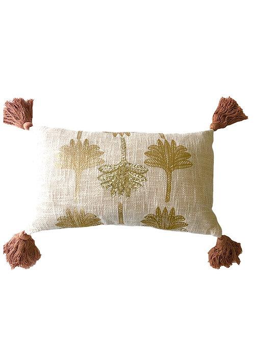 Kissen mit Palmenmotiv