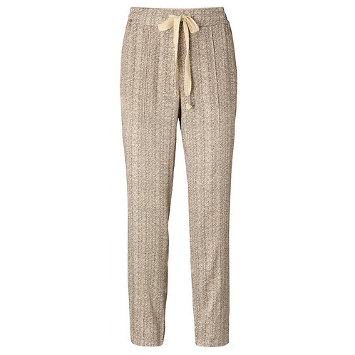 Printed woven jogger trousers eggshell