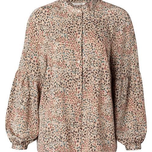 Printed puff sleeve blouse