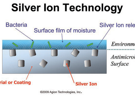 Silver, a powerful bactericide & self cleaning surface