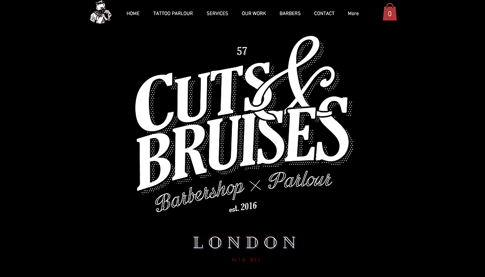 Wix Inspiration | Cuts and Bruises Barber Shop - London