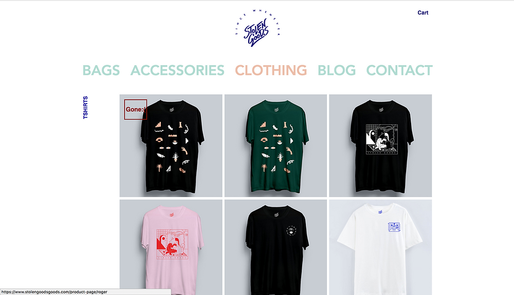 Wix Inspiration | Stolen Goods Clothing