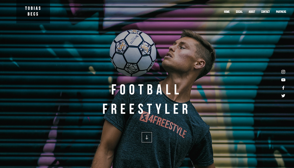 Wix Inspiration | Tobias Becs Football