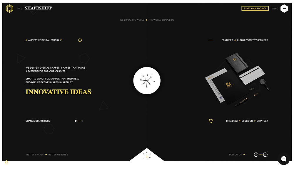Wix Inspiration | Shapeshift Design Studio