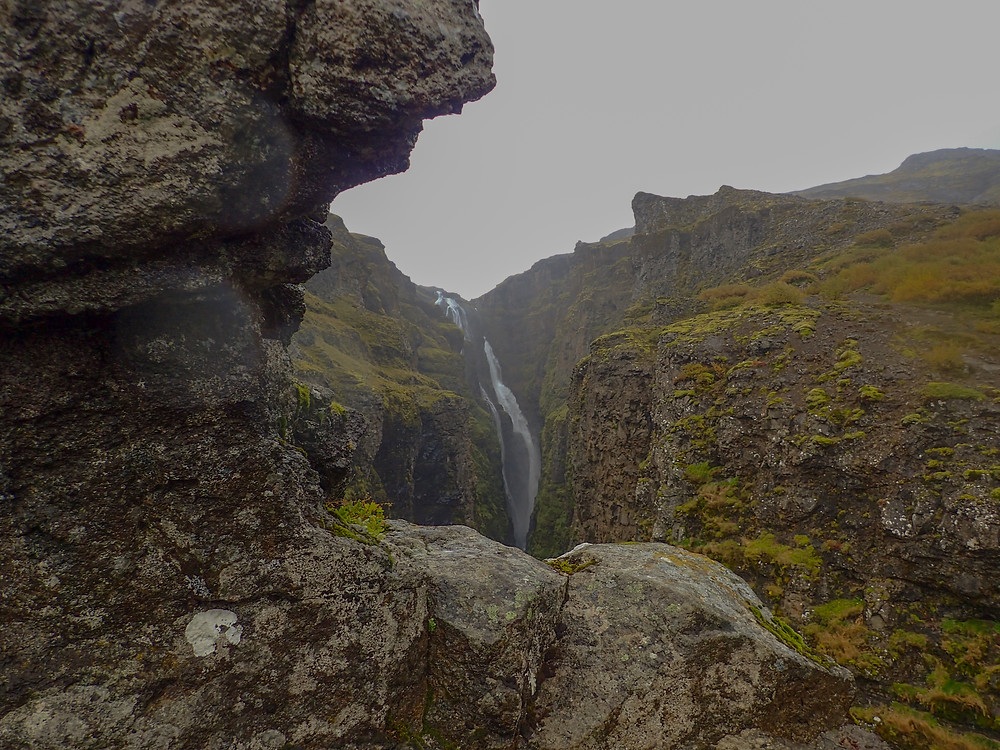 Hiking to the second highest waterfall in Iceland, Glymur.