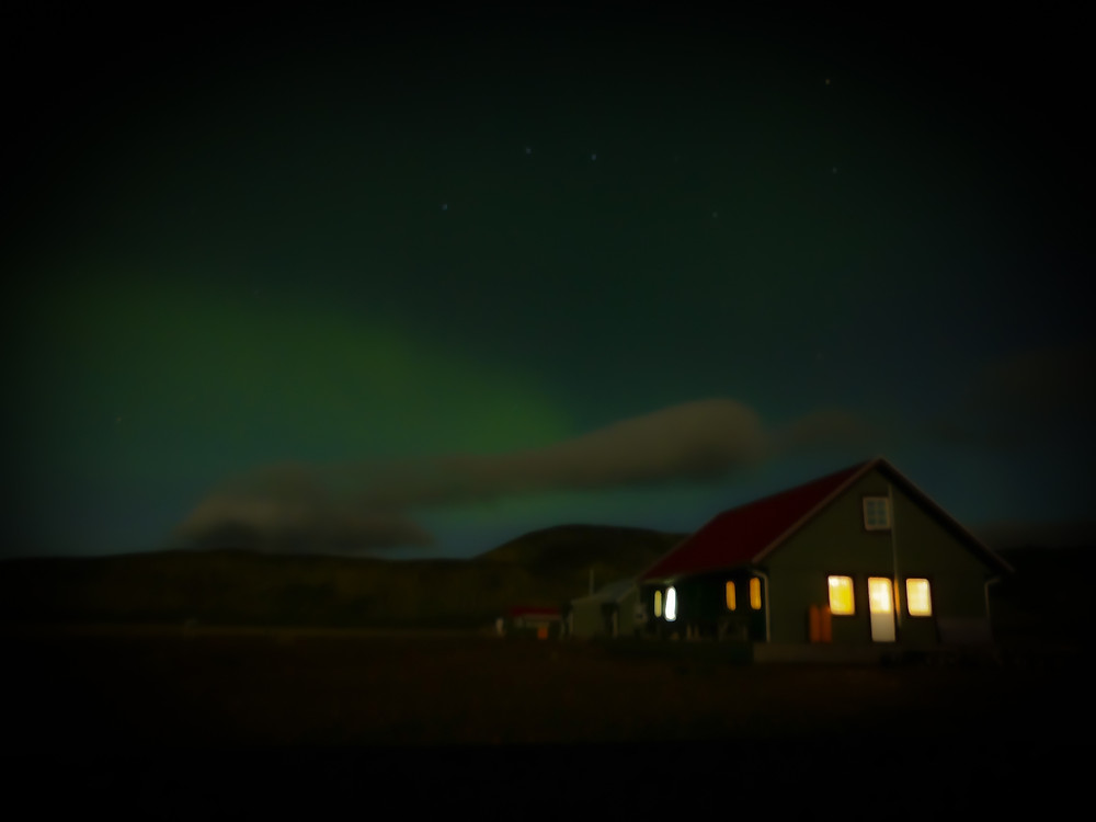 Northern Lights in Alftavatn on the Laugavegur Trail in Iceland.