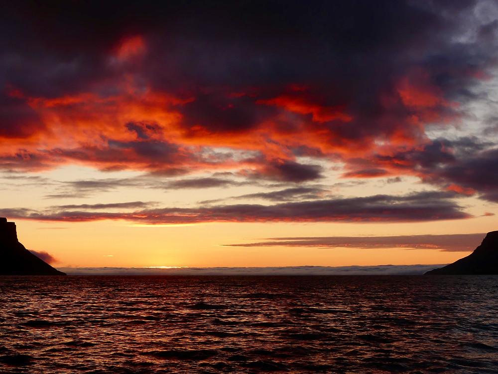 Autumn sunsets in Iceland. Part 1: Þingeyri.