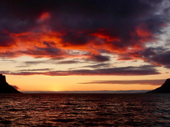 Autumn sunsets in Iceland. Part 1: Þingeyri