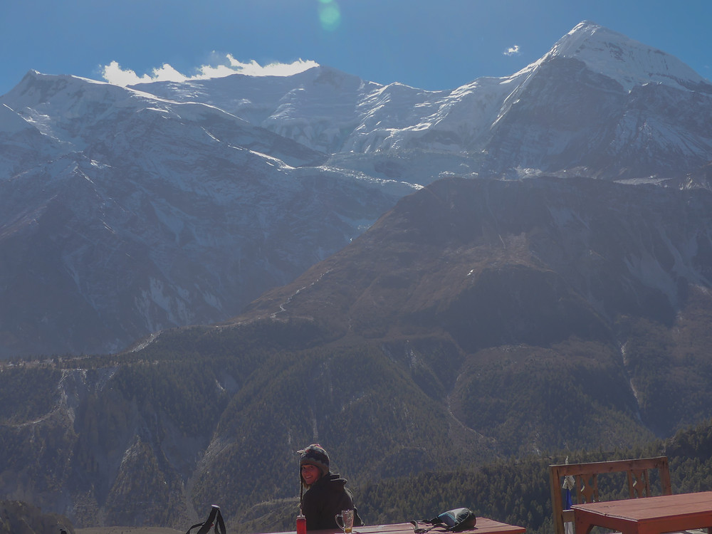 Hiking the Annapurna Circuit Trail in Nepal. Day 6, from Bhraga (3450m) to Yak Kharka (4050m).