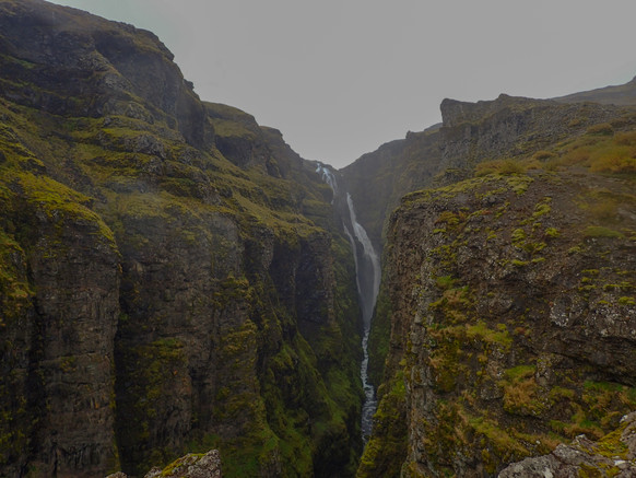 Hiking to the second highest waterfall in Iceland, Glymur