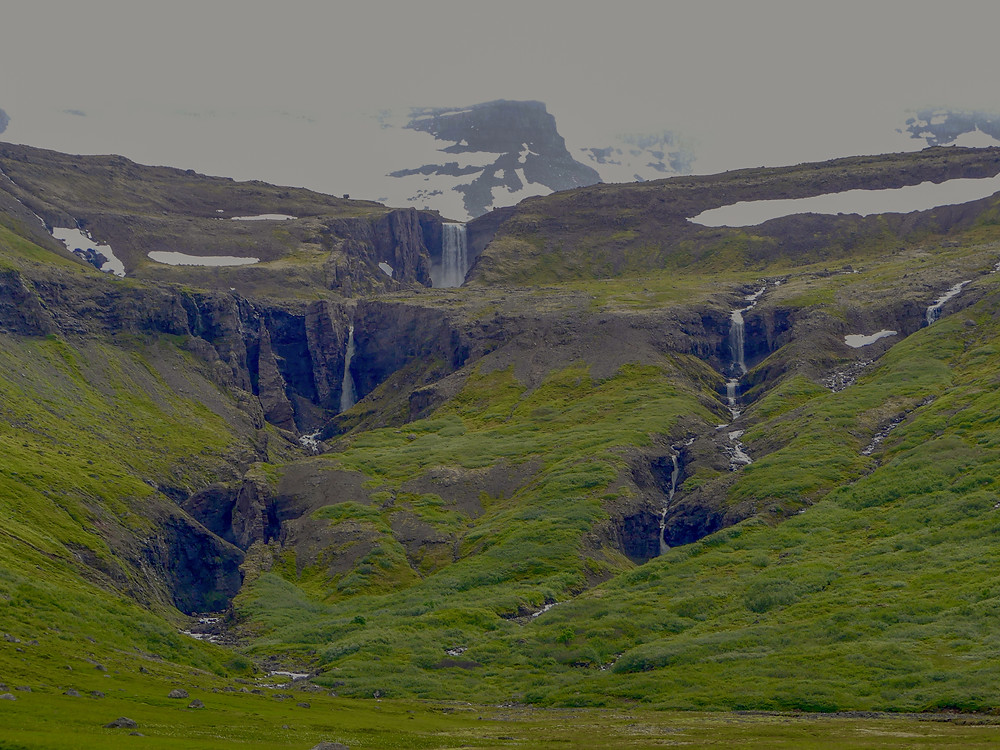 Hiking to Valagil Gorge in the Westfjords of Iceland.