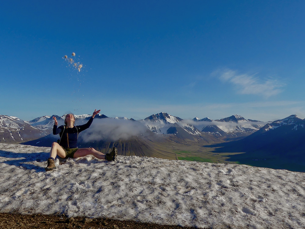 Hiking Sandafell in Þingeyri, Iceland. The hard way.