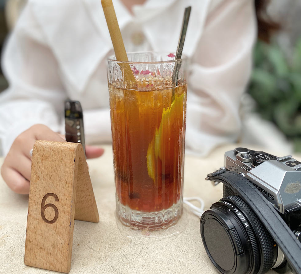 Drinking Tea With Bamboo Straws