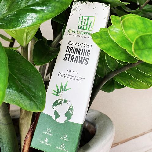 Buy Combo 1000 100% Organic Bamboo Straws of 27cm Length