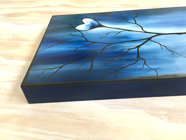 Tree of Life Dark Blue Edge Detail