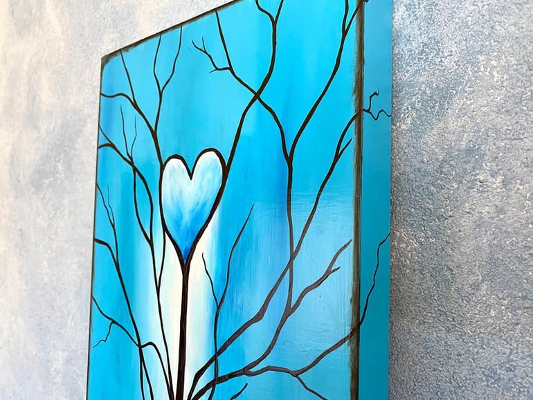 Tree of Life Sky Blue Edge Detail