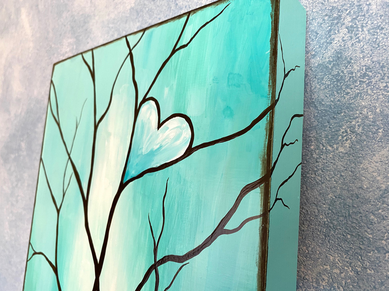 Tree of Life Teal Edge Detail