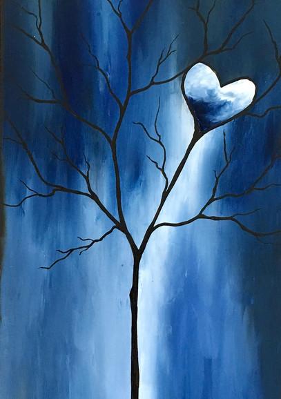 Tree of Life Dark Blue Detail