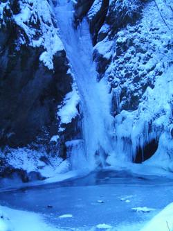 Frozen Waterfall at Felin Uchaf
