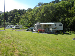 The camping site at Felin Uchaf