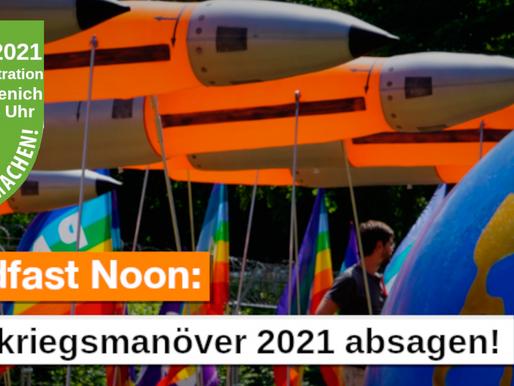 Kommt am 9. Oktober 2021zur Demonstration gegen die Atomkriegsübung der Bundeswehr nach Nörvenich!