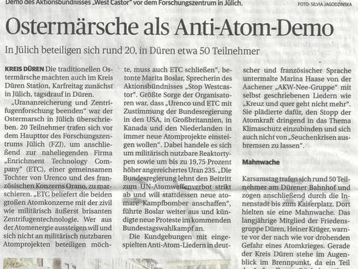 Ostermarsch 2021 in NRW- Auch in Düren