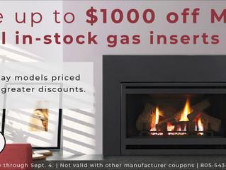 Gas Insert Manufacturer Sale!