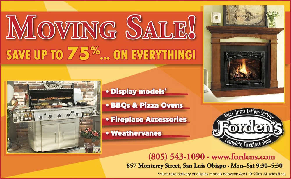 Forden's SLO Moving Sale