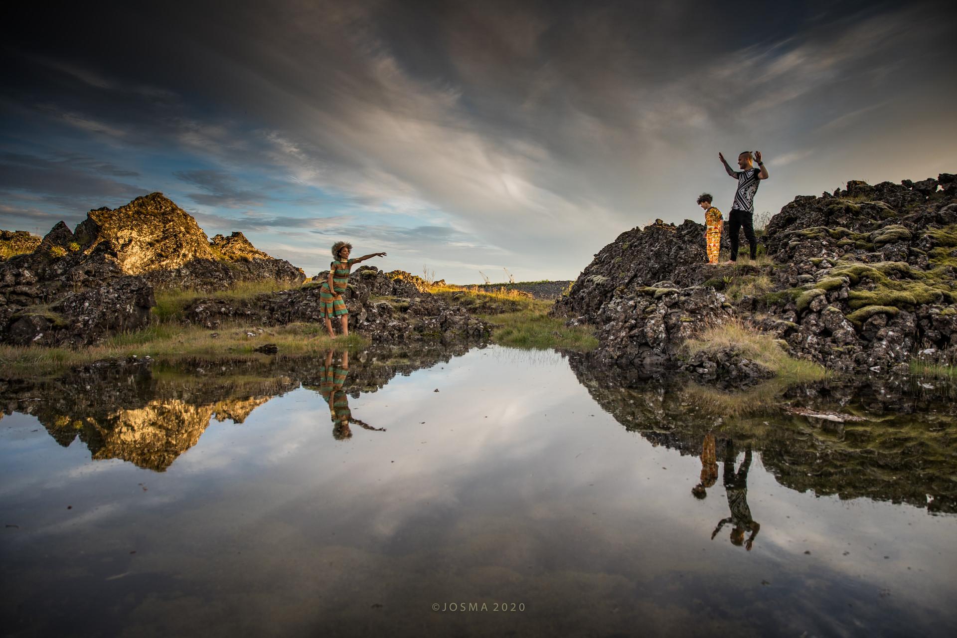 Hafnafjörður lava and ponds