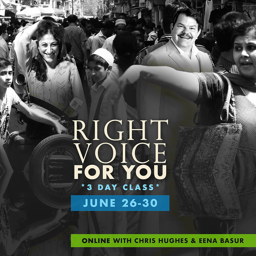 Right Voice For You 3 Day Class