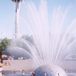 Seattle Center Fountain 08/22/02