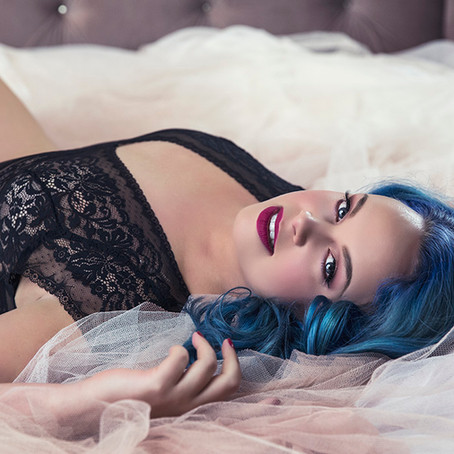Boudoir Customer - Amy (the mermaid with the bright blue hair)