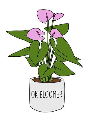 Okay Bloomer Sticker