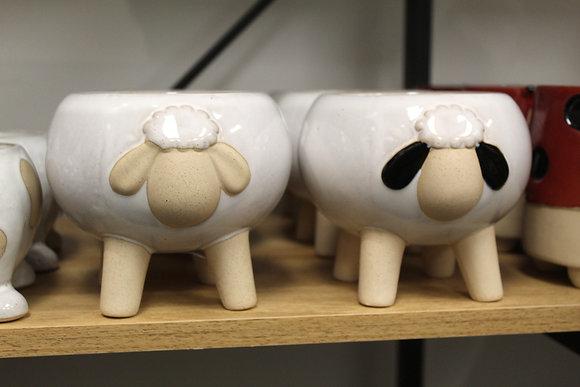Daisy Sheep Pot