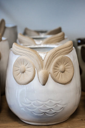 Tawny Owl Pot